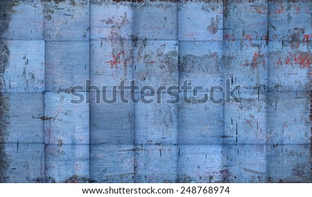 Grungy Tiled Blue Background  - stock photo