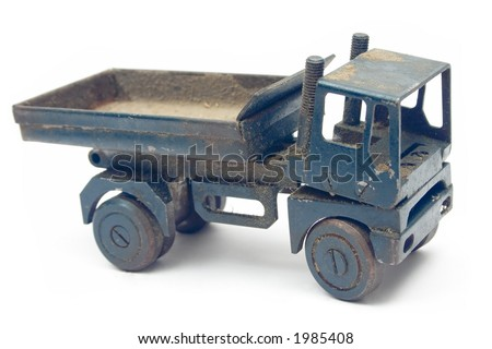 Grungy Toy Truck - stock photo