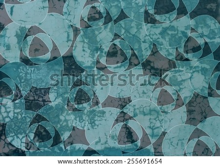 Grungy  unique  colorful textured  modern  geometric abstract design superimposed  with  triangular and   rectangular motifs on a  plain background ideal for wallpapers  and retro backgrounds. - stock photo
