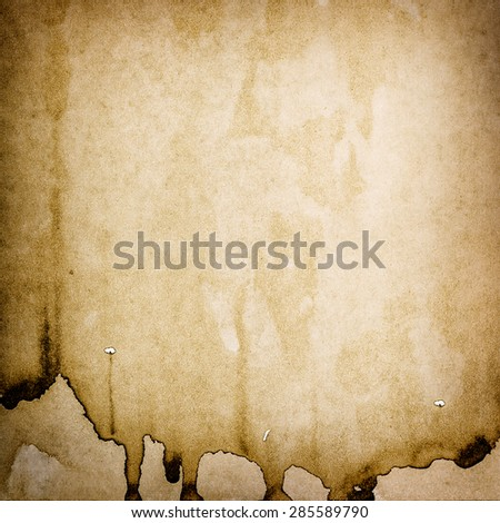 Grungy used paper texture. Stained watercolor background - stock photo