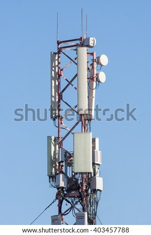 gsm ransmitters - stock photo