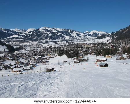 Gstaad in the winter