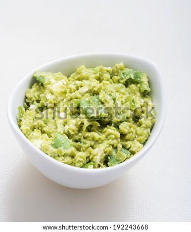 Guacamole Appetizer Healthy Snack - stock photo