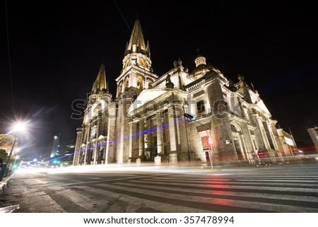Guadalajara Cathedral - stock photo