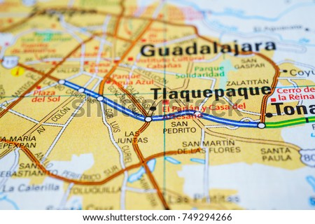guadalajara mexico on the map