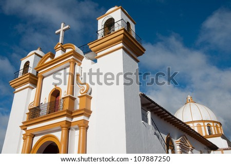 Guadalupe church, San Cristobal de las Casas, Chiapas (Mexico) - stock photo
