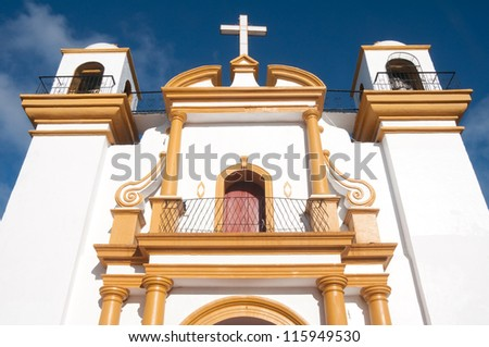 Guadalupe church, San Cristobal de las Casas (Mexico) - stock photo