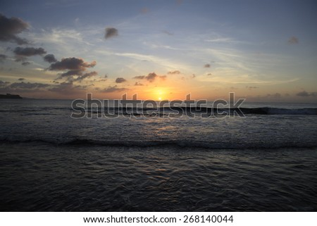 Guam sunset - stock photo