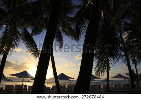 Guam Sunset Beach - stock photo