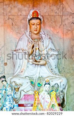 Guan Yin Statue  Wodenrful Guan Yin God ,Chinese god - stock photo