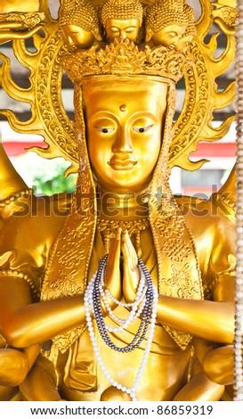 Guan Yin with ten thousand hands - stock photo