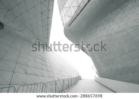 Guangzhou,China - April,16,2015:Guangzhou opera house in guangzhou china.
