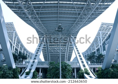GUANGZHOU, CHINA - AUG 24: CHINA IMPORT AND EXPORT FAIR COMPLEX on Aug 24, 2014 in Guangzhou. This is the world's largest convention and exhibition center,An area of 713,000 square meters.