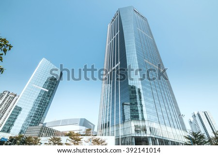 GUANGZHOU, CHINA - FEB 20: TaiKoo Hui is a major International level luxurious shopping centre on Feb 20, 2016 in Guangzhou. Designed by world-renowned architectural firm Arquitectonica. - stock photo