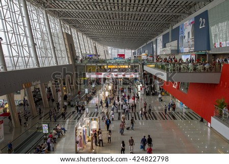 GUANGZHOU, CHINA - MAY 01: CHINA IMPORT AND EXPORT FAIR COMPLEX on May 01, 2016 in Guangzhou. This is the world's largest convention and exhibition center,An area of 713,000 square meters.  - stock photo