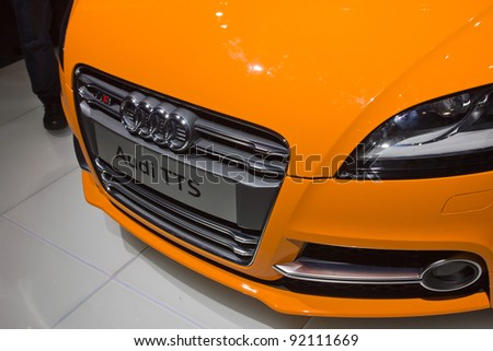GUANGZHOU, CHINA - NOV 26: Audi TTS car on display at the 9th China international automobile exhibition on November 26, 2011 in Guangzhou China.