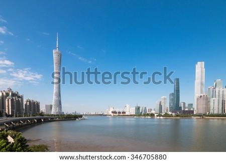 Guangzhou urban,China - stock photo
