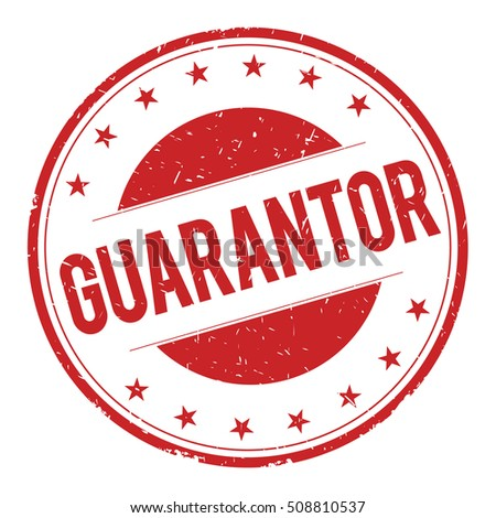 GUARANTOR stamp sign text word logo red.
