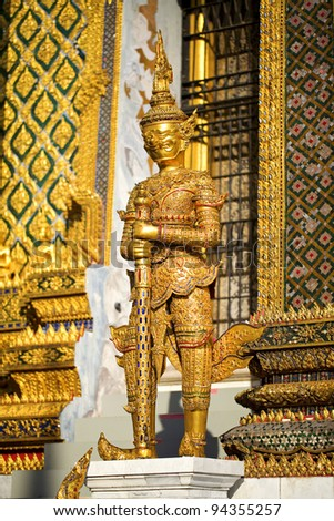 Guard Demon - The Grand Palace, Bangkok, Thailand.