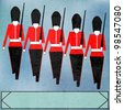 Guardsmen Marching Message, for a British Royal event or Jubilee - stock photo