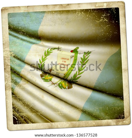 Guatemala Grunge sticker - stock photo