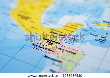 Guatemala On Map Stock Photo (Edit Now) 1038269530 - Shutterstock