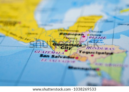 Guatemala On Map Stock Photo (Royalty Free) 1038269533 - Shutterstock