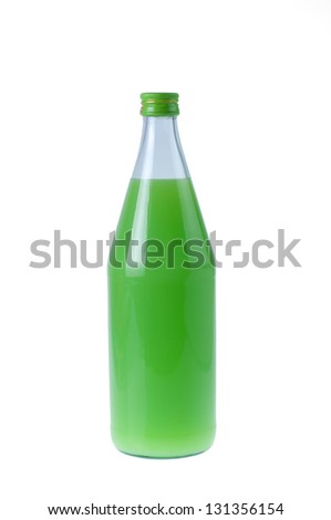 guavas juice in bottle with  isolated white background