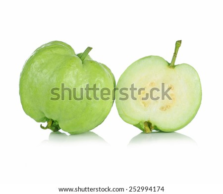 Guavas on white background - stock photo