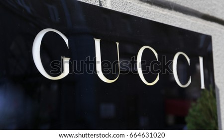 Gucci logo - Ukraine, Kiev - June 17, 2017
