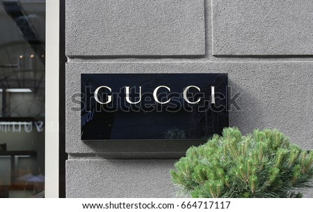 Gucci logo - Ukraine, Kiev - June 17, 2017