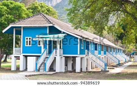 Guesthouse on the beach in Thailand. - stock photo