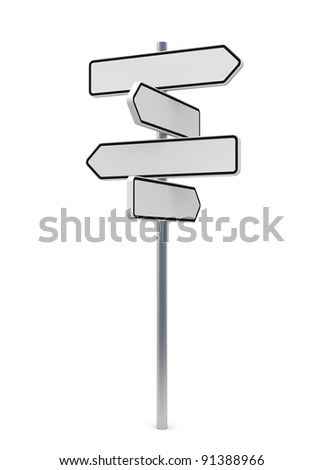 Guide Sign 4 - stock photo