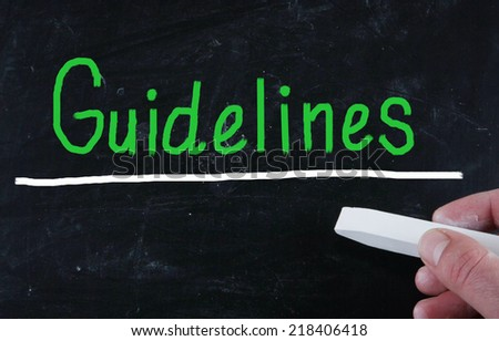 guidelines concept - stock photo