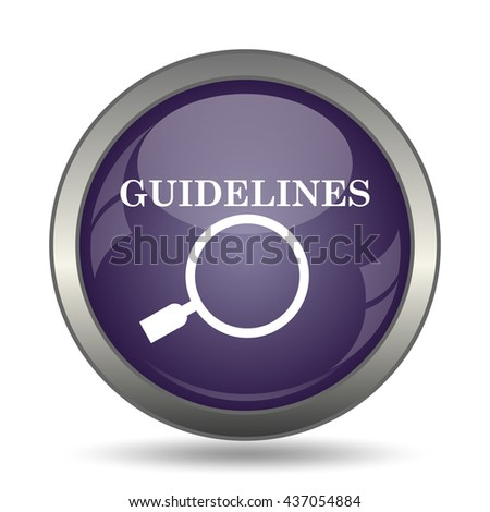 Guidelines icon. Internet button on white background.