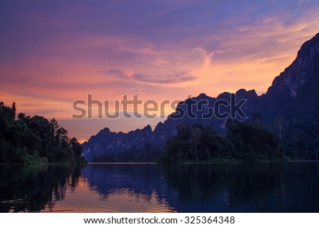 Guilin's Thailand in ratchaprapa Dam,Khao Sok,Thailand