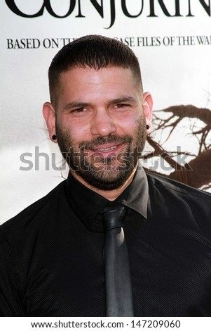 "Guillermo Diaz at ""The Conjuring"" Los Angeles Premiere, Cinerama Dome, Hollywood, CA 07-15-13 - stock photo"