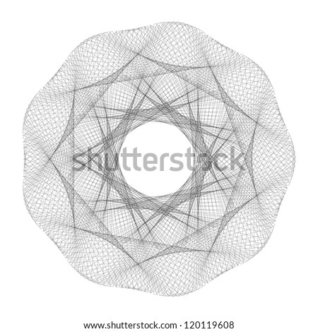 guilloche vector elements on a white background