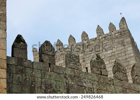 Guimaraes Castle, Portugal - stock photo