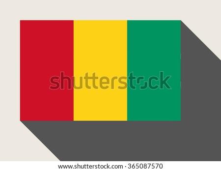 Guinea flag in flat web design style. - stock photo