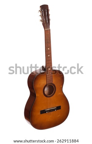 Guitar acoustic - stock photo