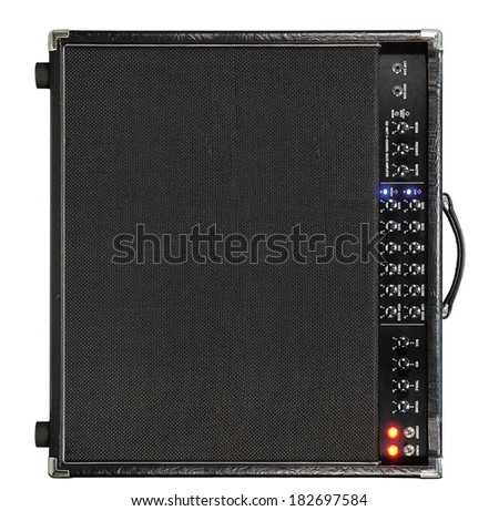 Guitar amplifier isolated on white. - stock photo