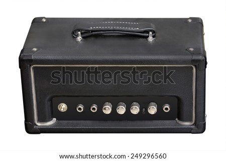 Guitar amplifier isolated under the white background  - stock photo