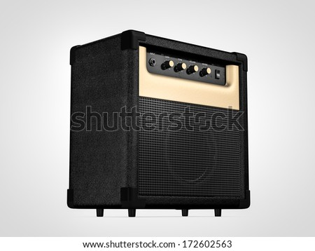 Guitar amplifier. On perspective