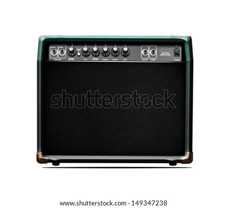 guitar ampp paintings - stock photo