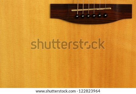 Guitar background - stock photo