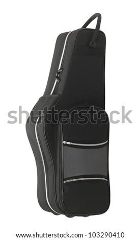 Guitar case isolated on the white background - stock photo