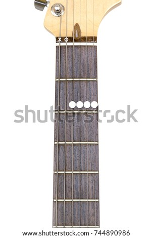 Guitar Chord A6 On White Background Stock Photo 744890986 Shutterstock