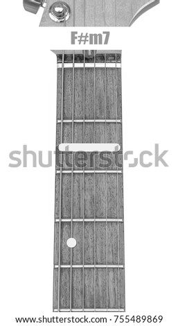 Guitar Chord Fm 7 Black White Isolate Stock Photo (Download Now ...