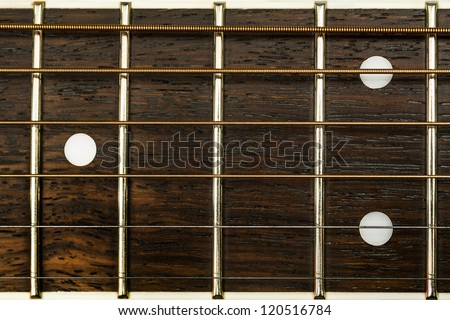 guitar detail - stock photo